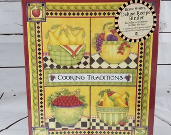 Vintage DEBBIE MUMM Deluxe Recipe Keeper Binder Sealed With Extras NEW
