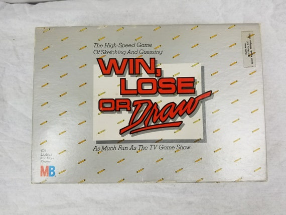 Vintage 1987 Win Lose Or Draw Sketching Board Game Walt Disney Etsy