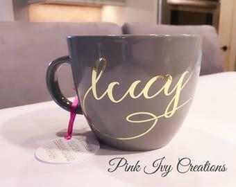 custom name mug, name mug, custom coffee mug, coffee cup, coffee lover, custom mug, personalized mug, unique mug custom gift gold accent mug