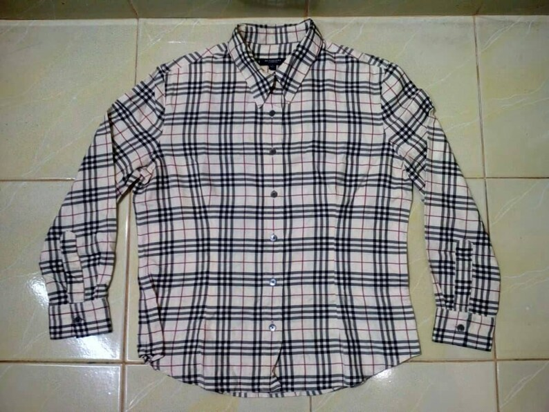 98c8bfdcd3 Burberry Nova Check Board Women Shirt Made In The Uk | Etsy