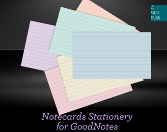 GoodNotes Index Cards Digital Notecards For Studying Flashcards Study Download Card Note Aid