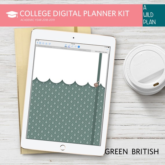 digital planner goodnotes college 2018 2019 student planner etsy