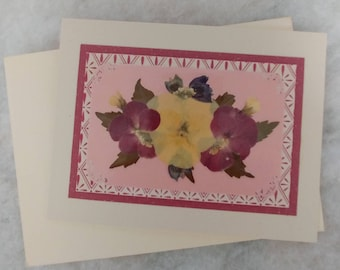 Pressed flower greeting card (blank)