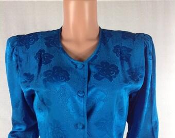 Vintage Argenti Silk Peplum Blouse