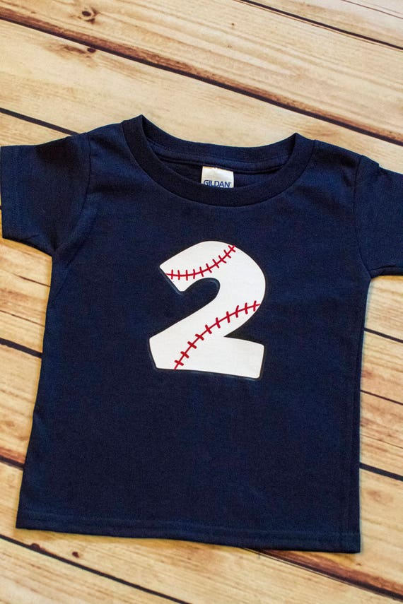 2nd Birthday Baseball Shirt Second Boy