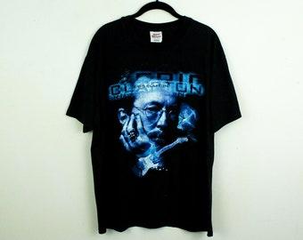 69967ec3 Vintage 1990s Eric Clapton World Tour T Shirt / Large / Black / Multi-Color  / Blue / Matrix / Cotton / Cyber Style / Mall / y2k / Dad Rock /