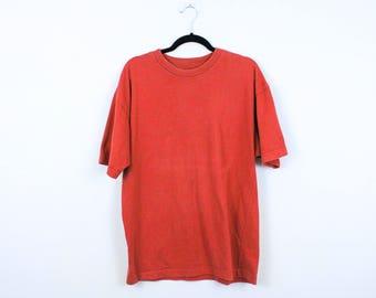 Vintage 90s Gap Basic T Shirt / Gap, Inc. / Friends / Medium / Red / Orange / y2k / 100% Cotton /