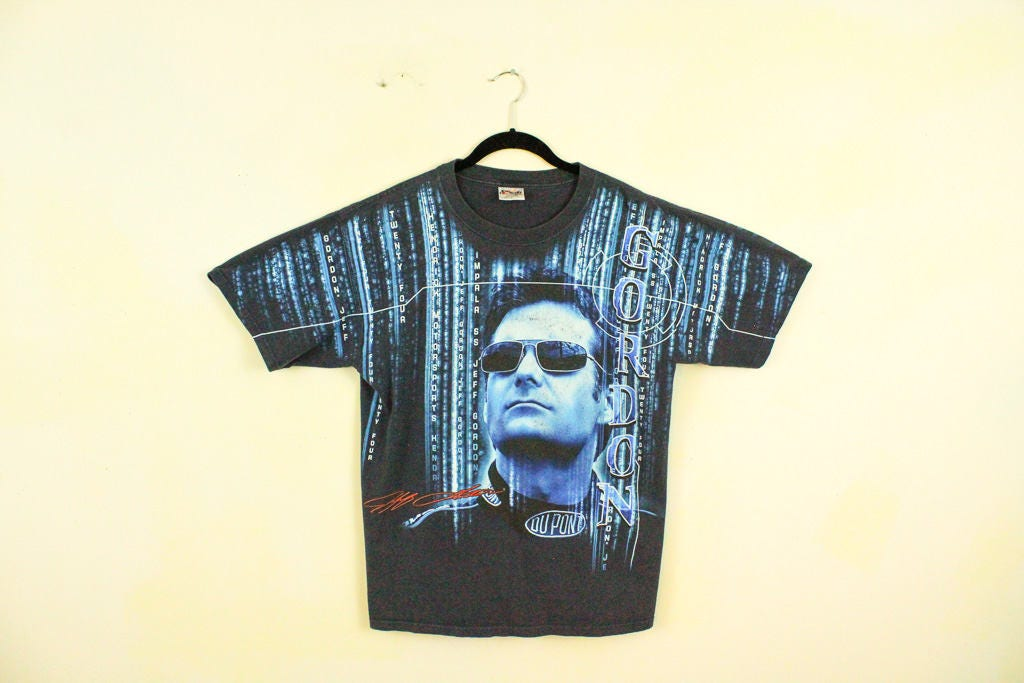 16e44ff7 Vintage y2k NASCAR Jeff Gordon Matrix T Shirt / Large / Black | Etsy