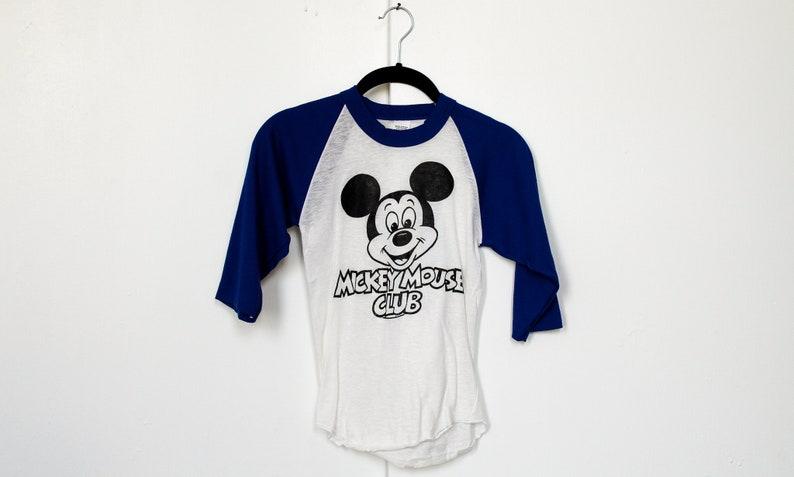 3bd41bb9 Vintage 1970s Disney Mickey Mouse Club T Shirt / Cartoon / | Etsy