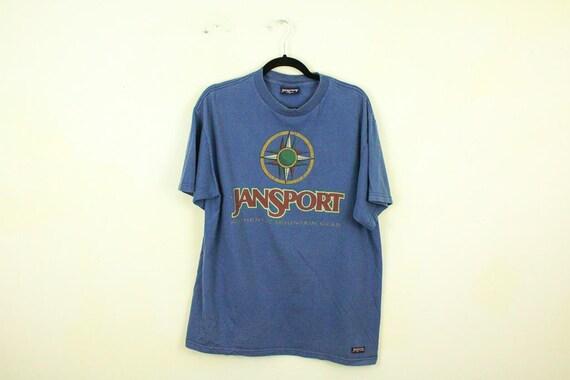 Vintage 1990s JanSport T Shirt   Backpack   Bookbag   High  d831c9a98887