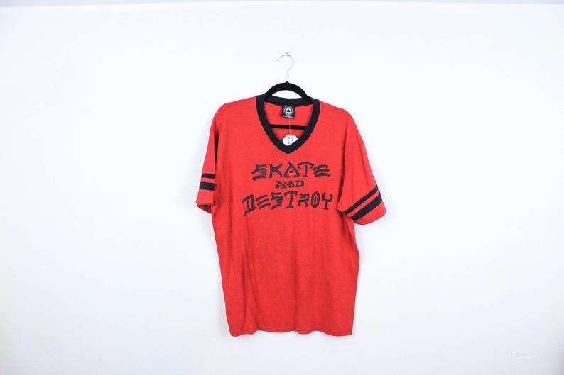 7ea8616ebedb Thrasher Skate and Destroy T Shirt / XL / y2k / Skateboard / | Etsy