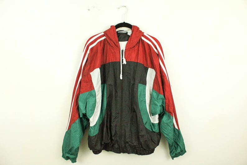 adidas Retro WB jacket blue white red
