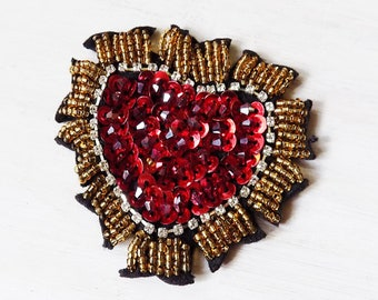 Sacred heart patch etsy