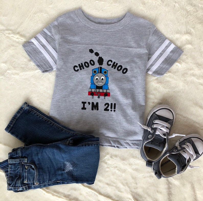 Choo Im 2 Birthday Shirt Thomas Toddler Boy