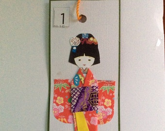 Handmade Origami Kimono Bookmark