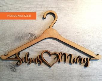 Personalized Custom Dress Hanger, Laser Cut Dress Hanger, Wedding Dress Hanger, Bridal Party Hanger, Laser Cut, Bride Hanger