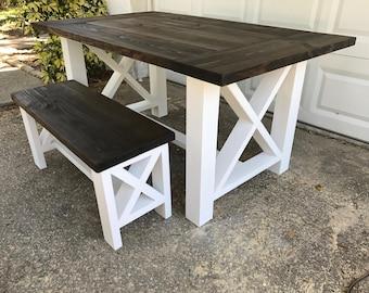 6b8f0dea6864 X Style - Farm Table and Bench