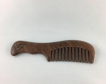 Black Sandalwood Wide Toothed Comb