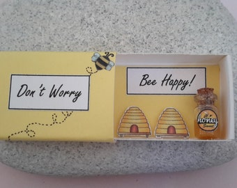 Happiness Box Don't Worry Bee Happy Encouragement