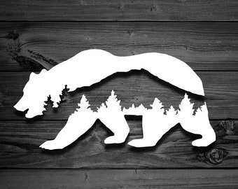 2201191a43d7d Mountain Bear Vinyl Decal