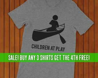 4b250c4c Canoeing T-Shirt, Canoe Shirt, Unisex T-Shirt, Women's Canoeing Shirt, Men's  Canoeing Shirt. Children at Play