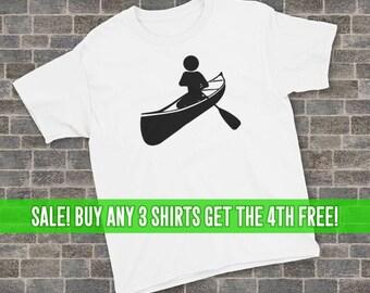 85d49bb5 Canoeing T-Shirt, Canoe Shirt, Unisex T-Shirt, Youth Canoeing Shirt, Youth Canoeing  T-Shirt