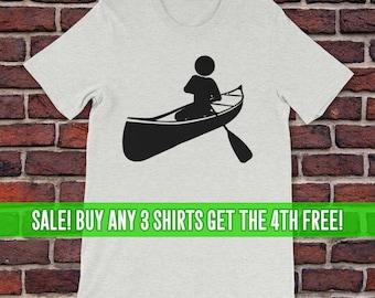 70e4dc3d Canoeing T-Shirt, Canoe Shirt, Unisex T-Shirt, Women's Canoeing Shirt, Men's  Canoeing Shirt