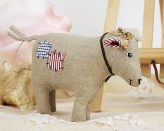 Kalb Gefüllt Bauernhaus Dekor Spielzeug Kinderzimmer Kleine Kuh Geschenk  Tier Kuscheltiere Niedlichen Kinder Spielzeug Tierhaltung Stoff  Geburtstagsgeschenk