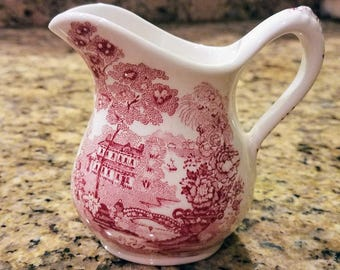 Vintage Mini Creamer in Tonquin Red Pink by Royal Staffordshire