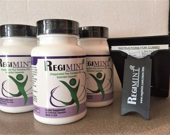 Regimint: Peppermint Oil Plus Caraway for IBS (3 bottle Deal) Plus  Promo Free Gift!