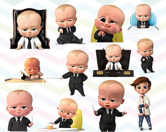 Baby Boss Clipart, Baby Boss PNG, Baby Boss Files, Printable Clipart, Transparent Background PNG, Digital Files for Kids - CUTE-032