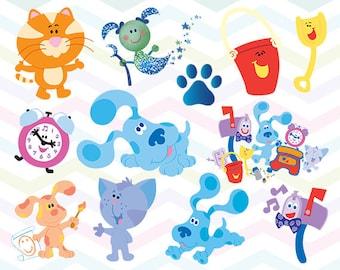Blue's Clues Clipart, Blue's Clues PNG, Blue's Clues Files, Printable Clipart, Transparent Background PNG, Digital Files for Kids - CUTE-003