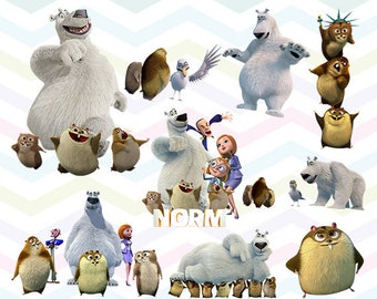 Norm of the North Clipart, Norm of the North PNG Files, Printable Clipart, Transparent Background PNG, Digital Files for Kids - CUTE-011