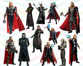 Thor Clipart, Thor Movie PNG, Marvel Superhero Files, Printable Clipart, Transparent Background PNG, Digital Files for Kids - CUTE-027