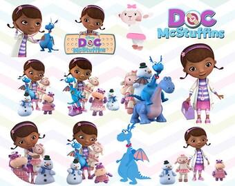 Doc McStuffins Clipart, Doc McStuffins PNG Files, Printable Clipart, Transparent Background PNG, Digital Files for Kids - CUTE-037