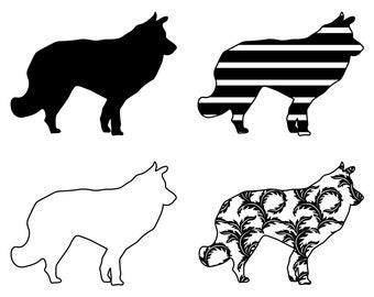 Belgian Sheepdog SVG Bundle PNG Dog Design Pet Canine Logo Mascot Clipart Vector Cut Files Cricut Eps Dxf