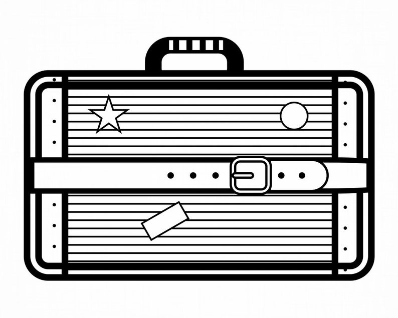 Suitcase #6 Vacation Travel Luggage Tourist Trip Flying Distance SVG Cut Files PNG Clipart Vector Logo Design Cricut Eps Dxf