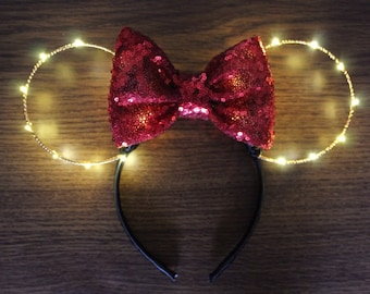 Light Up Minnie Mouse Ears,  Lightup Minnie Ears, Minnie Ears, Light Up Minnie ears, Minnie Mouse Ears, Minnie Mouse