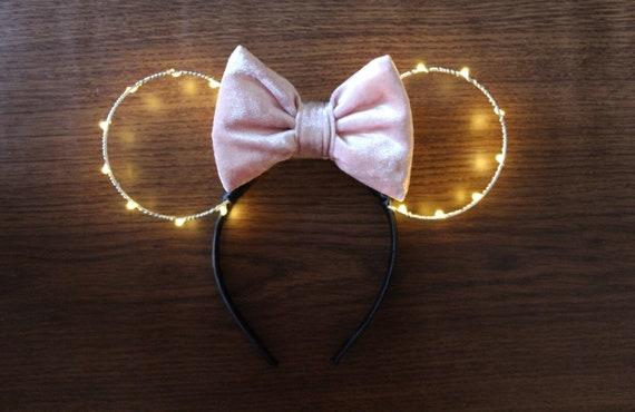 Light Up Minnie Ears Minnie Ears Minnie Mouse Ears Etsy