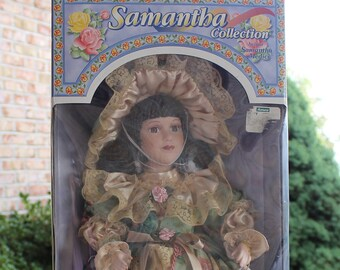 Doll, Samantha Collection by Samantha Medici, Porcelain Doll, New in Box, Vintage, Gift for Child, Gift for Her, Collectible