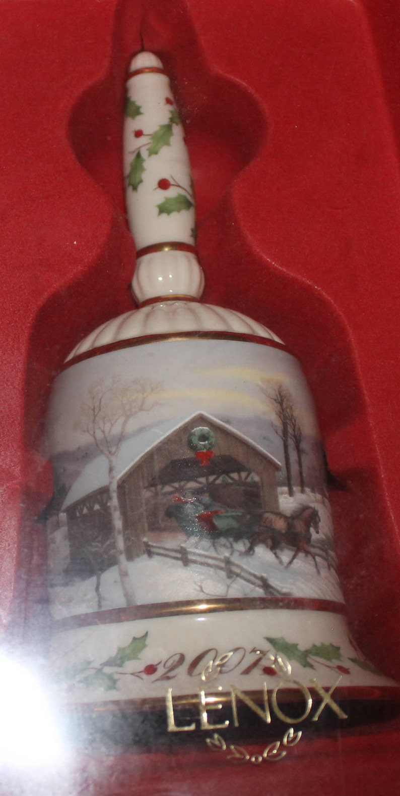 Christmas Gift Christmas Gift Christmas Covered Bridge New In Box Vintage Collectible Bell Country Lenox Annual Holiday Collectible