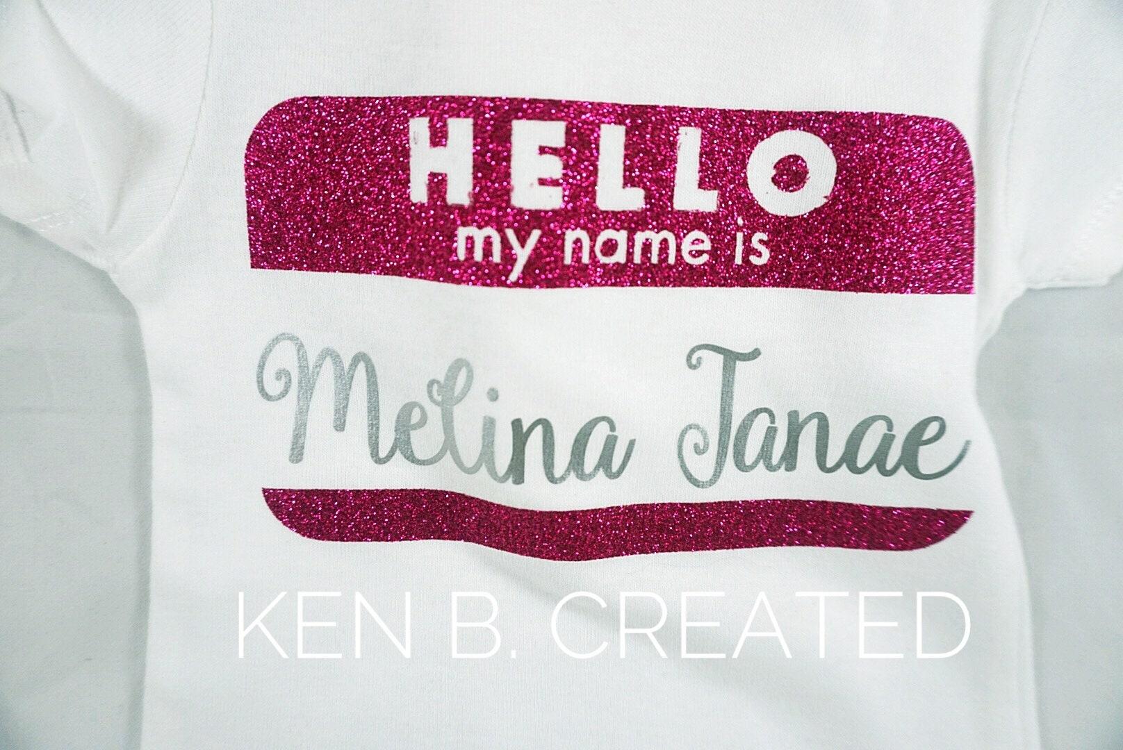 Newborn Baby Onesie Glitter Hot Pink Girl 6 Month Bodysuit Shower Gift Birthday Present New Parent