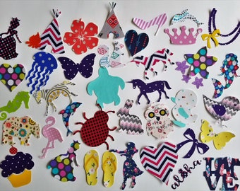 Assorted baby girl iron on appliques for DIY baby shower activity/game. Customize your order easily by messaging me!