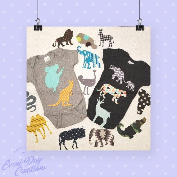 Jungle  Safari theme baby shower iron on appliques for DIY baby shower activitygame Customize your order via message!