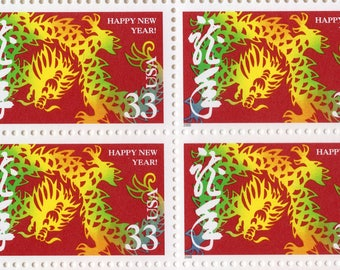 Happy New Year - Year of the Dragon - 1999 - Full Sheet (20) - US Postage Stamps  - Mint - Unused - Scott 3370