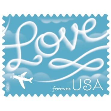 Écriture amour U.S. les frais de port port port (20) - nouveau - feuille complète ff402f