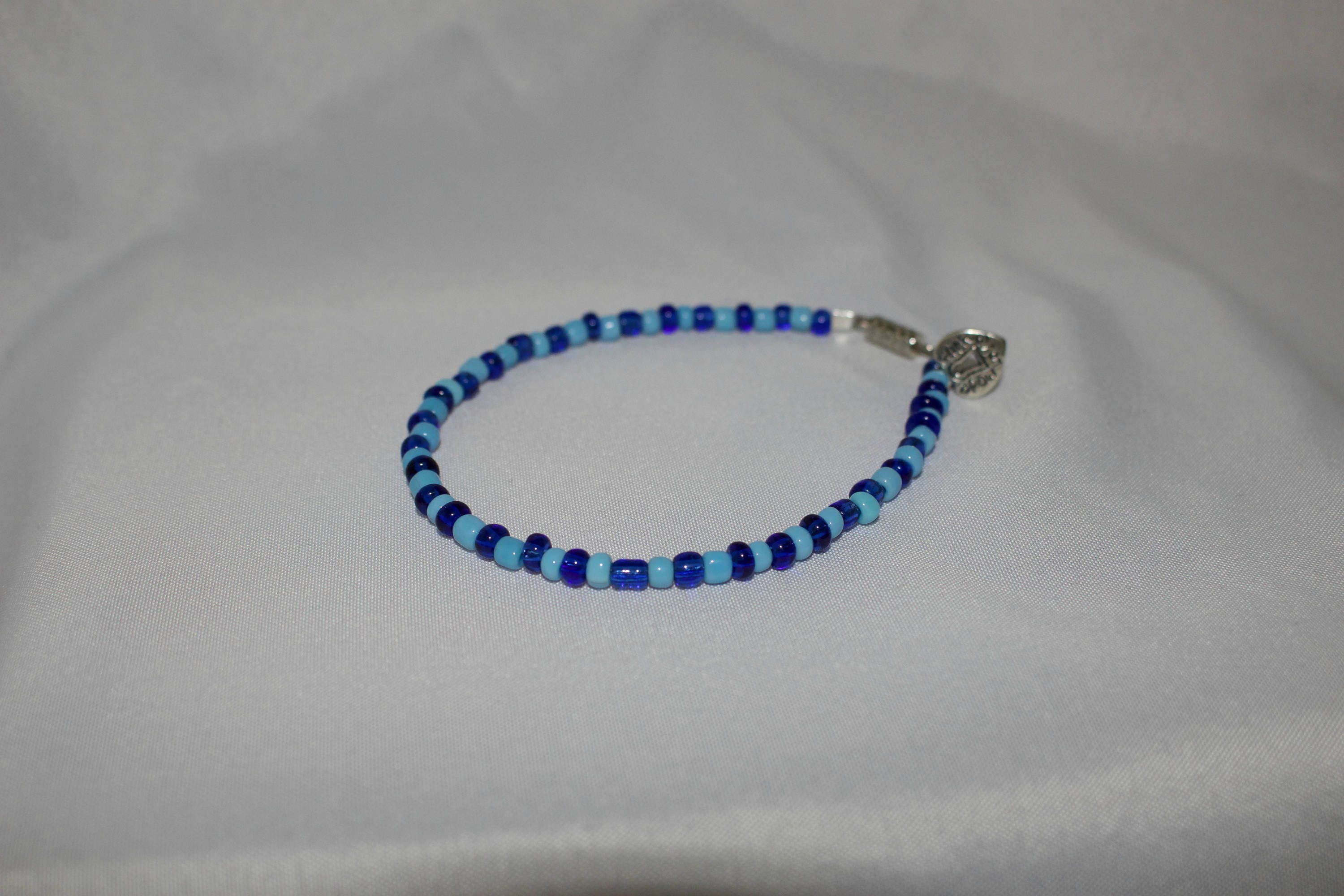 blue navy light listing fullxfull bracelet with charm il zoom