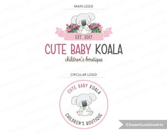 Custom logo design premade logo koala logo boutique logo photography logo affordable logo graphic design small business logo