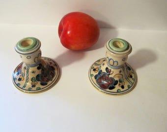 Set of 2 vintage Gouda candlesticks