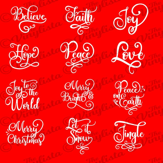 christmas svg bundle christmas words ornament svg bundle etsy